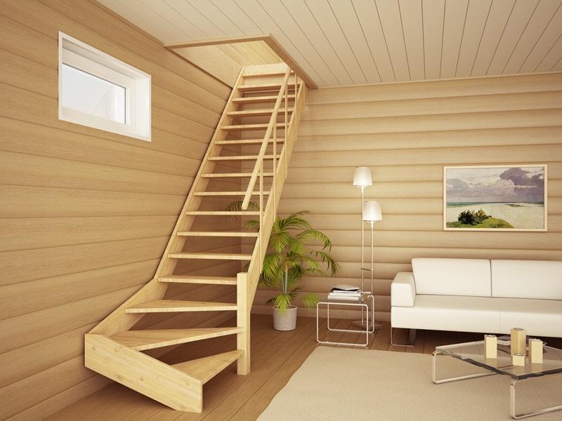 Деревянные лестницы на мансарду фото